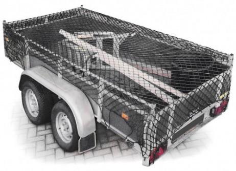GEPÄCKNETZ Anhängernetz Ladungssicherungsnetz elastisch 1,25×2,1m dehnbar bis 2×3m – Bild 3