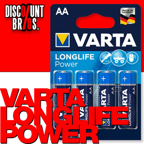 VARTA 4906 Longlife Power Batterien AA Mignon LR6 4er Pack High Energy – Bild 1