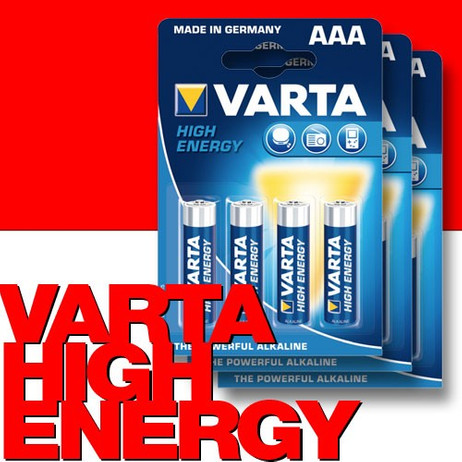 12 Stk. VARTA 4903 High Energy Batterien AAA Micro LR03