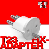 Permanent Fix-Adapter Stecker SCHUKO ( Typ F CEE 7 ) zu Schweiz ( Typ 23 T23 16A ) WEISS 001