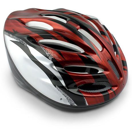 VELOHELM Helm Fahrradhelm rot-silber – Bild 2