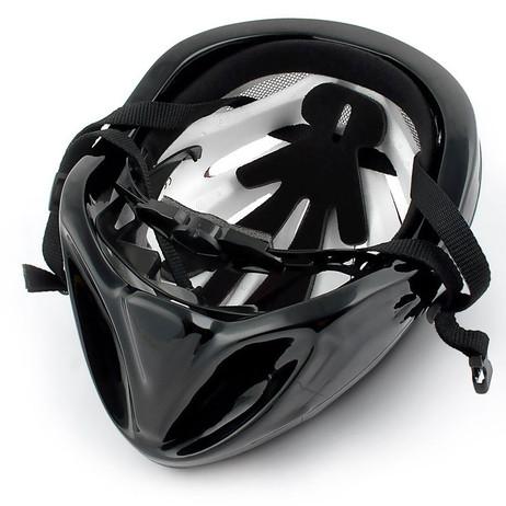 VELOHELM Helm Fahrradhelm rot-silber – Bild 4