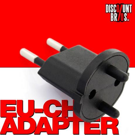 10 × Permanent Fix-Adapter Stecker SCHUKO (Typ F CEE 7) zu Schweiz (T11) 2-polig teilisoliert – Bild 1