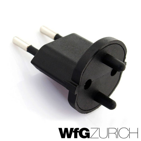 10 × Permanent Fix-Adapter Stecker SCHUKO (Typ F CEE 7) zu Schweiz (T11) 2-polig teilisoliert – Bild 2