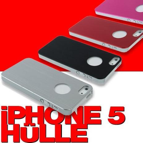 IP5KY SCHUTZ-HÜLLE Markenware Case Metall gebürsted für iPhone 5 + 5s ★ SALE ★ AUSVERKAUF ★