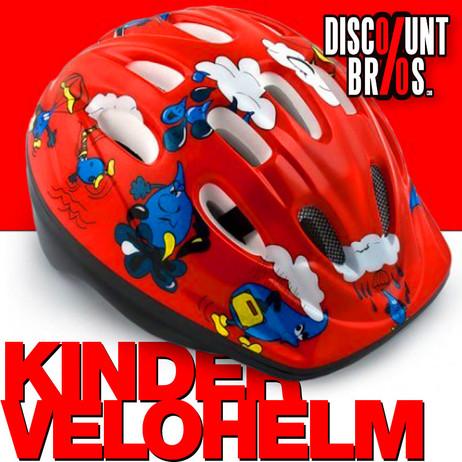 VELOHELM Helm Fahrradhelm für KINDER rot – Bild 1