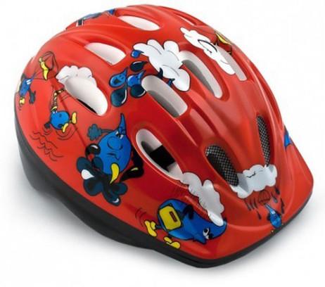 VELOHELM Helm Fahrradhelm für KINDER rot – Bild 3