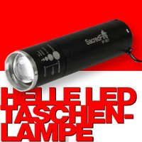 SacredFire Ultrahelle LED TASCHENLAMPE mit Fokus