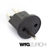 420 × Permanent Fix-Adapter Stecker SCHUKO (Typ F CEE 7) zu Schweiz (T12) 3-polig teilisoliert