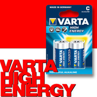 VARTA 4914 High Energy Alkaline Batterie Baby C LR14 2er-Pack