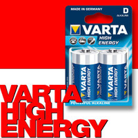 VARTA 4920 High Energy Alkaline Batterie Mono D LR20 2er-Pack