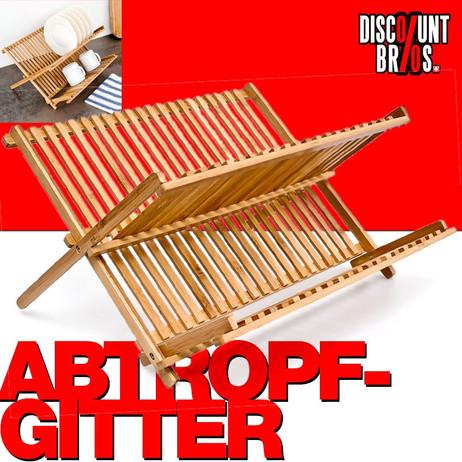 GESCHIRR-ABTROPFGITTER Abtropfgestell aus Bambus 42cm – Bild 1