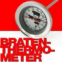 Edelstahl BRATEN-THERMOMETER Backofen- Grill- Fleisch- Thermometer 001