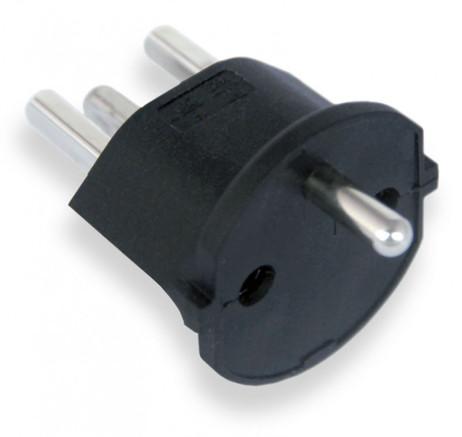 Permanent Fixadapter Fix-Adapter Stecker SCHUKO ( Typ F CEE 7 ) zu Schweiz ( Typ 23 T23 16A ) – Bild 5