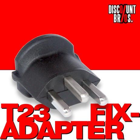 10 × Permanent Fix-Adapter Übergangsstecker SCHUKO ( Typ F CEE 7 ) zu Schweiz CH ( Typ 23 T23 16A ) – Bild 1