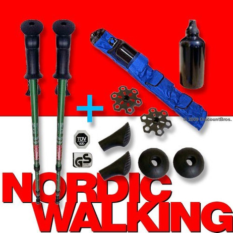 Wanderstöcke NORDIC WALKING SET 12-teilig