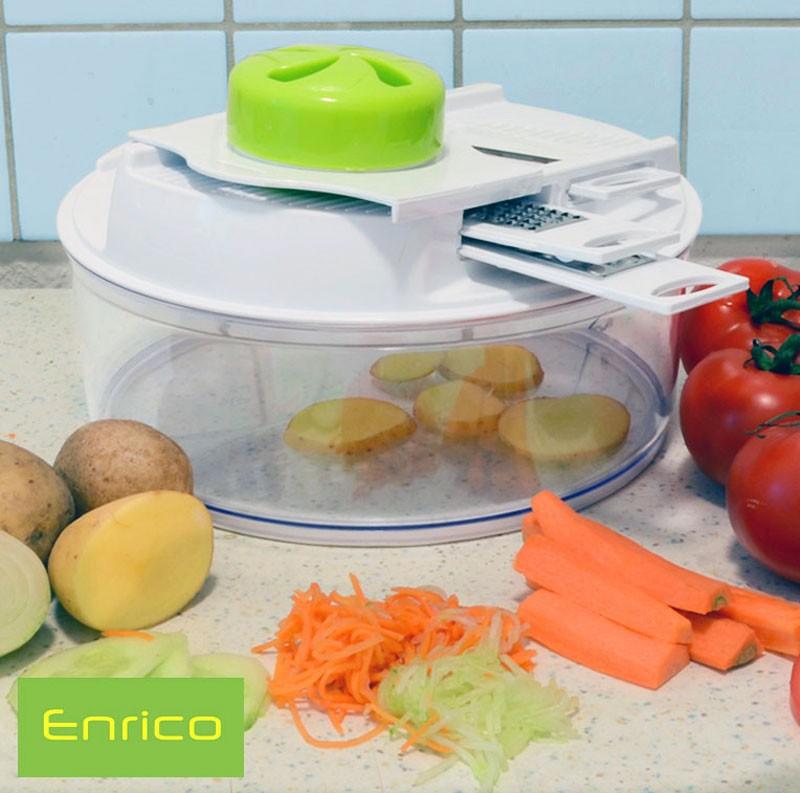 ENRICO Küchenreibe mit runder Schüssel 5in1-Set