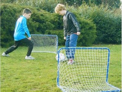 2 × FUSSBALLTOR Goal 78×56×45cm Blau