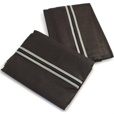 2 Stk. KLEIDERSCHUTZHÜLLEN Kleiderhülle Kleidersack schwarz 60×100cm – Bild 3