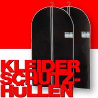 2 Stk. KLEIDERSCHUTZHÜLLEN Kleiderhülle Kleidersack schwarz 60×100cm