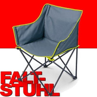 Campingstuhl Faltsessel FALTSTUHL Klappstuhl mit Seitentasche grau 42x44x86cm 001