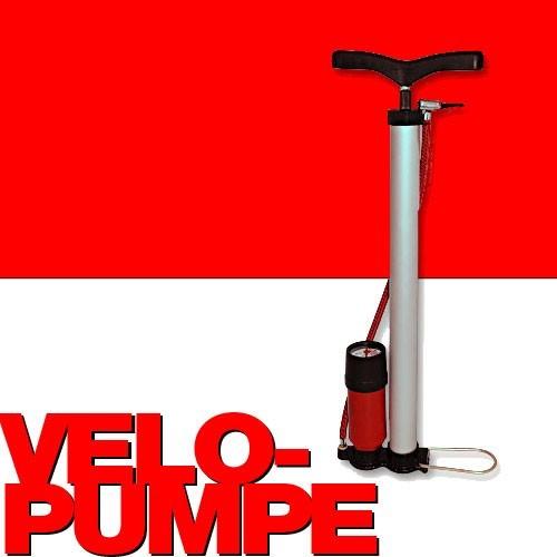 velopumpe luftpumpe standluftpumpe pumpe mit manometer. Black Bedroom Furniture Sets. Home Design Ideas