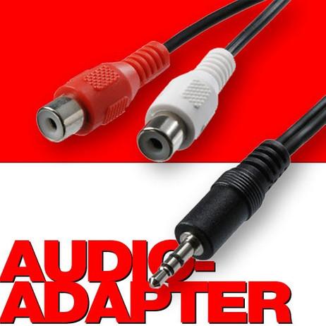 Kupplung ADAPTERKABEL Stereo Mini-Jack Buchse zu 2 Cinchstecker