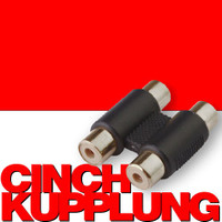 Doppel CINCH KUPPLUNG Adapter