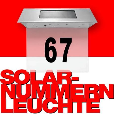 LED Solar HAUSNUMMERN-LEUCHTE aus Edelstahl – Bild 1