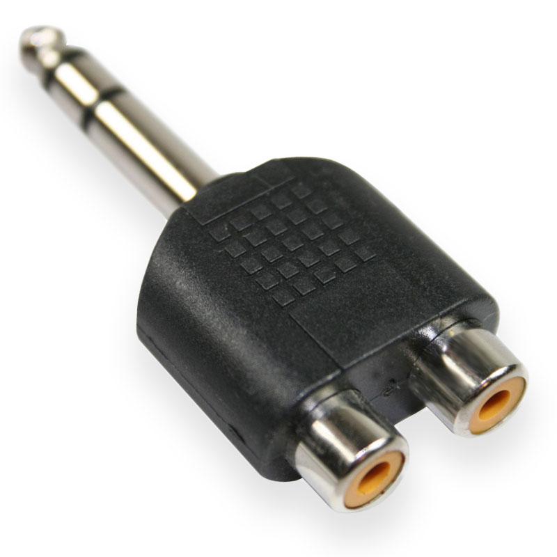 CINCH (2 weiblich) auf JACK (männlich) Adapter