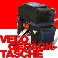 Multifunktionale XXL GEPÄCKTASCHEN für Velo- / Fahrrad- Gepäckträger