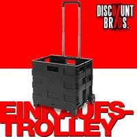 Klappbarer EINKAUFS-TROLLEY Einkaufswagen Transportroller bis 35kg 001