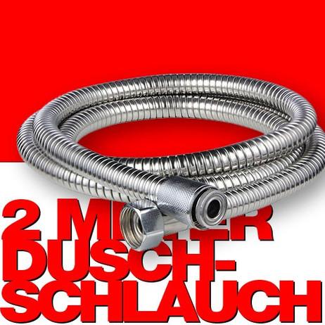Edelstahl DUSCHSCHLAUCH Brauseschlauch 200cm – Bild 1