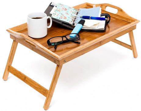 BETT-TABLETT Betttablett klappbares Tablett aus Bambus lackiert – Bild 3