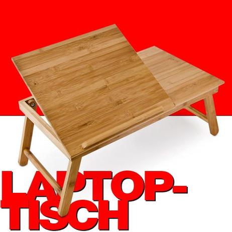 Bambus LAPTOPTISCH Betttablett BETT-TABLETT mit Leseklappe und Schublade – Bild 1