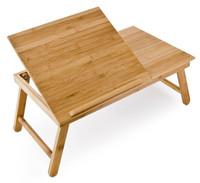 Bambus LAPTOPTISCH Betttablett BETT-TABLETT mit Leseklappe und Schublade