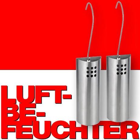 WASSERVERDUNSTER Luftbefeuchter aus Edelstahl, 2er Set – Bild 1