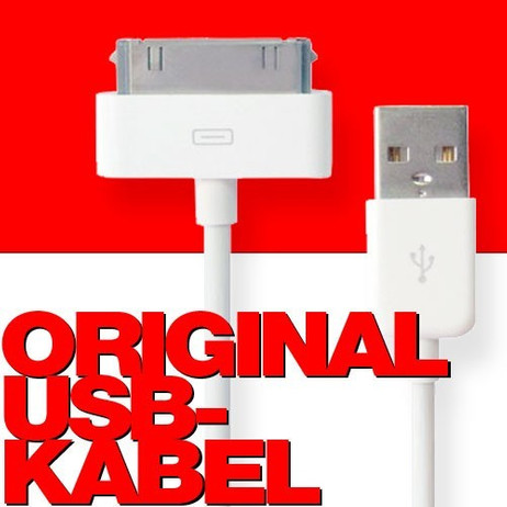 USB Kabel Datenkabel / Dock Connector für iPhone, iPad und iPod – Bild 1
