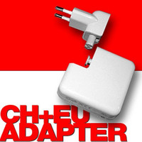 Adapter Stecker für Apple Netzteile iPhone, iPod, iPad etc. CH + EU oder USA GB/UK AU 001