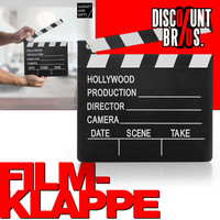 "REGIEKLAPPE ""Hollywood Production"" Filmklappe Holz 20cm 001"