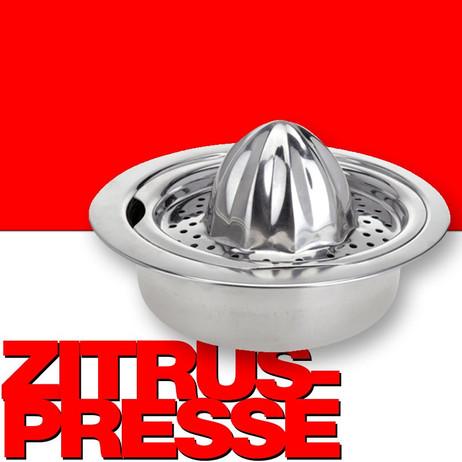 Edelstahl Saftpresse ENTSAFTER Zitruspresse Zitronenpresse