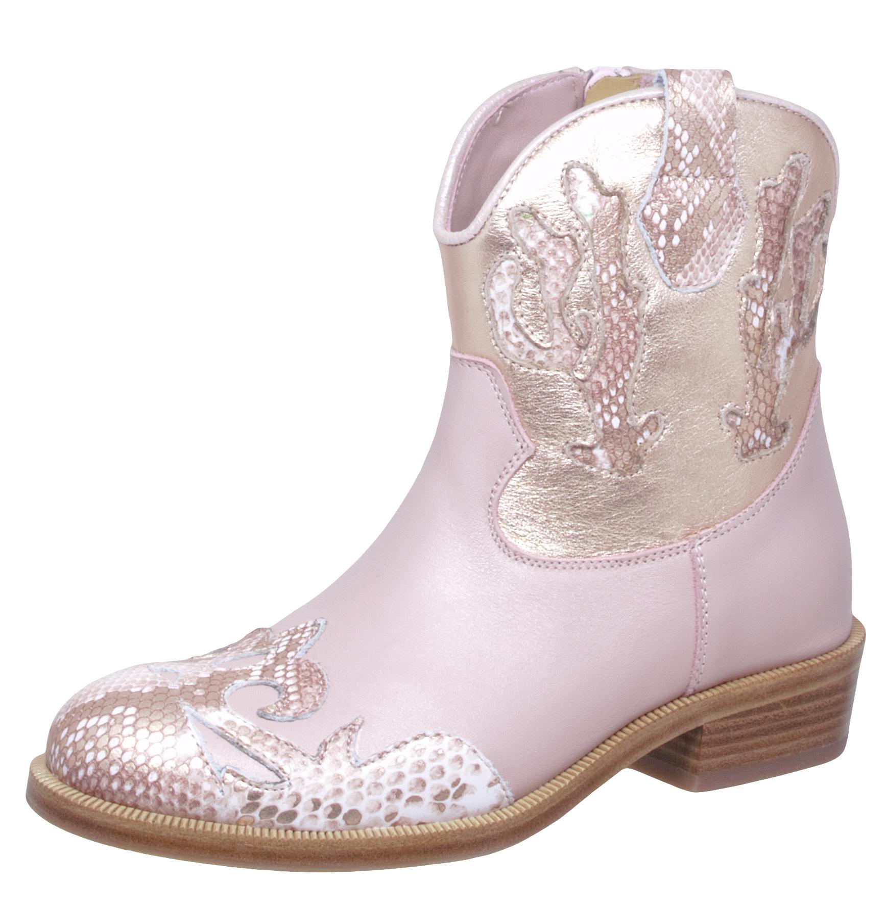 28-31 Neu Zecchino d/'Oro A06-668 Stiefeletten Boots Leder Sterne Rosa Gr