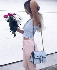 Damen elegante Hose mit Kordelzug Damenhose Stretch High Waist Damenhose mit hohem Bund Pants 001