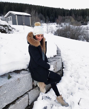 Damen Schwarz lange Echtfell Winterjacke Winter Parka Jacke mit Pelz Outdoor Echtpelz mit abnehmbarem Fell Daunenjacke Mantel  – Bild 8