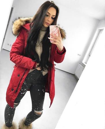 Arctic Long Parka - Rot