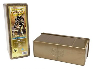 Dragon Shield 4 Compartment Storage Box Gold