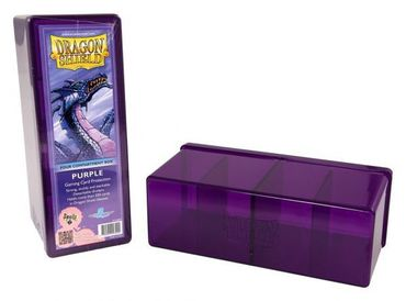 Dragon Shield 4 Compartment Storage Box Purple