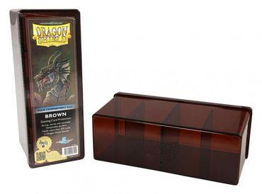 Dragon Shield 4 Compartment Storage Box Brown
