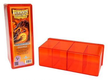 Dragon Shield 4 Compartment Storage Box Orange