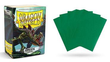 Dragon Shield Matte Green 100 protective Sleeves